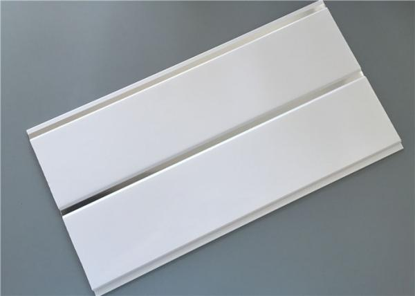 Quality Pure white high glossy middle groove ceiling pvc panels with silver for sale