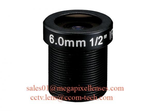 "Quality 1/2"" 6mm F1.6 2Megapixel M12x0.5 mount IR board lens, 6mm MTV lens for security camera for sale"