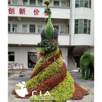 China Large Artificial Living Sculpture Boxwood Animal Topiary Artificial Peacock Plants Statue wholesale