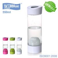 China Plastic Protable Alkaline Energy Water Bottle 550ml BPA Free For Health Care wholesale