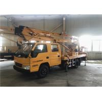 China 28M Composite Boom Aerial Work Platform Truck With 3 And 1 Section Telescopic Boom on sale