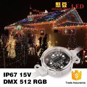 China SMD5050 IP67 Outdoor 0.9Watt DC15V Waterproof DMX 40mm Poi LED wholesale