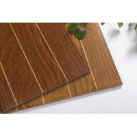 China Lakewood Stripe Cherry Wood Color Ceramic Floor Wall Tile For Outdoor /  Indoor wholesale