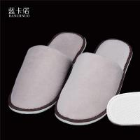 China RANCRNUO OOC-SL one time disposable velour fabric hotel slippers wholesale