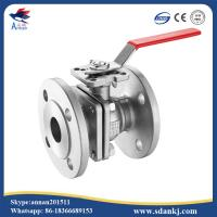 Buy cheap 2 Pcs Flange connection type Stainless Steel Ball Valve for hot water WCB DN50 from wholesalers