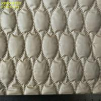 China F6059 ultrasonic embossing laminating 100% polyester termo qualiting fabric for winter heavy downcoat wholesale