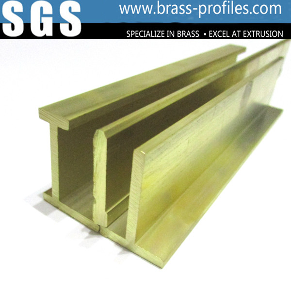 Quality Glossy Copper Extruded Series Brass Extruding Door and Window Frames for sale