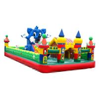 China 10-15 Children Play Inflatable Jumpers 0.55mm Tarpaulin Sewing Castle Bounce House wholesale