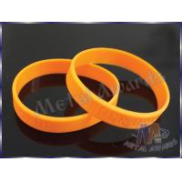 China Custom Plastic Bracelets PVC Wristbands Gold Color With Letters 212mm Size wholesale