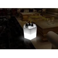 Buy cheap Champagne Wine Bottle Ice Cooler Oval Shape Led Ice Bucket Plastic PE Material from wholesalers