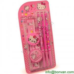China HOT Sales funny drawing kids stationery set,Hello Kitty Stationery set wholesale