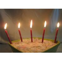 China Diameter 0.5cm Glitter Birthday Candles For Festival , Red Brown Long 7.4cm wholesale
