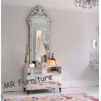 Beautiful Venetian Glass Mirrors Antique , Large Venetian Etched Mirror