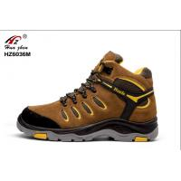 China Men Brown Durable Composite Safety Shoes CE Approved For Industrial Workers wholesale