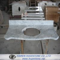 China Marble  Sink Countertops with Grey Lines, Marble Countertops with built in Sinks wholesale