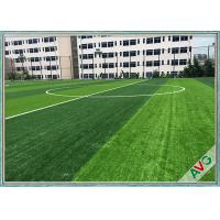 China Olive Shape Football Field Soccer Artificial Grass Anti UV 2 / 4 / 5m Roll Width wholesale