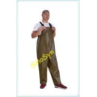 China FQY1909 Khaki PVC Safty Pinched Chest/ Waist Protective Working Fishery Men Pants wholesale