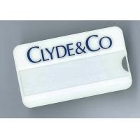 custom wholesales eco-friendly pvc name badge with clip pin insert name paper supplier