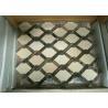 China Basketweave Natural Stone Mosaic Wall Tile For Living Room Crema Marfil Color wholesale