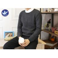 China Round Neck Pullover Mens Chunky Knit JumperSlim - Fitting Winter Garment wholesale