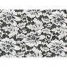China White Flower Brushed Lace Stretchable , Rayon Nylon Spandex Fabric CY-LQ0003 wholesale
