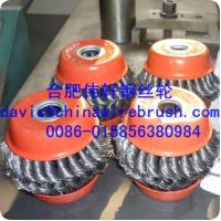 China knot wire cup brushes for cleaning and polishing wholesale