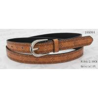 China Nickel Satin Buckle Women'S Belts For Jeans , Embossed Patterns Womens Stretch Belts on sale