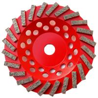 China 7 inch #30/40 Turbo Segment Diamond Cup Grinding Wheel for Concrete grinding wholesale