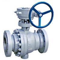 China Full Port Trunnion Mounted Ball Valve Forged Steel Anti Static Device ISO 5211 Direct Mounting Pad wholesale