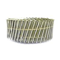 China 2.3mm*65mm Diamond Point Ring Shank Pallet Coil Nails With Flat / Checked Head wholesale