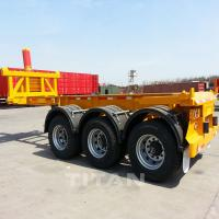 China TITAN tipping equipment trailer container dump trailer 40 ton flatbed container trailer for sale on sale