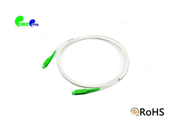 Quality Simplex 3.0mm Fiber Optic Patch Cables SC APC - SC APC G657A1 LSZH Jacket Material for sale