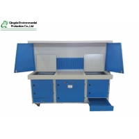 China Ergonomic Design Fume Purifier Downdraft Dust Collection Table on sale