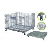 China Collapsible Steel Mesh Storage Cage For Warehouse Various Colors / Sizes wholesale