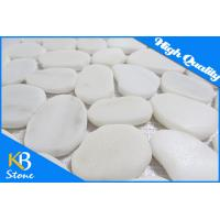 China Wall Decoration Polished Pebble Stone Mosaic Tile , Honed Marble Floor Tiles for Swimming Pool wholesale