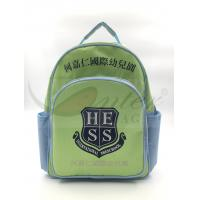China Light Green 420D Polyester Kids School Backpacks For Traveling / Outdoor on sale