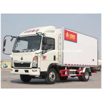 China Light Duty 290hp C700 Refrigerated Box Truck With ZF8118 Hydraulic Steering wholesale