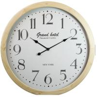 China Simple Square Wooden Living Room Conference Room Digital Wall Clock wholesale