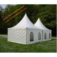 China Outdoor UV Resistance Fireproof 4x4m Powder Coated Steel Party Event  Pagoda Tent wholesale