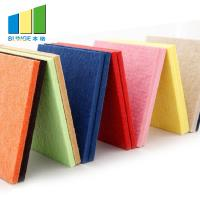 China Sound Absorption Polyester Acoustic Panels 9mm Thickness In Red / Blue / Yellow wholesale