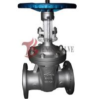 China Din Flanged Carbon Steel Gate Valve GS-C25 Metal Seat Hardfaced Half / Full Stellite wholesale