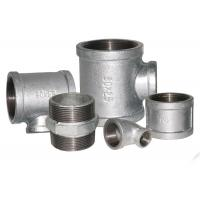 China ISO 49 Standard Malleable Iron Threaded Fittings , Iron Water Pipe Fittings 1/8 - 6 wholesale