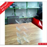 China Rectangle Acrylic Holder Stand Light Weight 50*20*10cm RHOS wholesale
