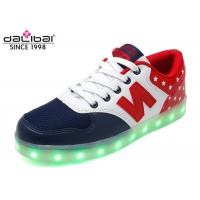 China Size 38 Custom LED Casual Shoes Light Up Flashing Sneakers Flat Heel For Men wholesale