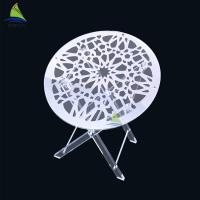 Buy cheap Round Acrylic Coffee Table Custom Oral Shape Clear Folding Acrylic Picnic Table from wholesalers