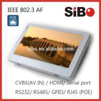 """7"""" Wall Flush Mounted Android Touch Panel With Ethernet POE"""