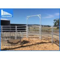 Buy cheap Heavy Duty Cattle Yard Panel / High Tensile Horse Fence With Round / Square Rail from wholesalers