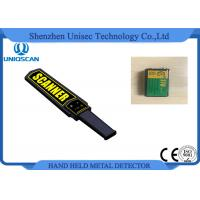 China Black Small Metal Detector Wand , Security Check Portable Metal Detector Equipment wholesale
