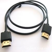 High Speed HDMI Cable Assembly , 1 Meter Length Black Round Male To Male Audio Cable