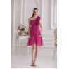 China Luxury Rose Chiffon Plus Size Cocktail Party Dresses wholesale